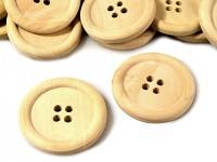 Dřevěný knoflík čtyřdírkový velký - 1ks