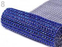 Diamantový pás - 1cm/1m - tm.modrý