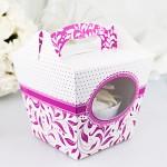 Krabička dárková s ouškem na cupcake - více barev