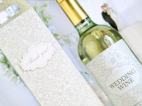 Etiketa na svatební víno 0,7l - wedding wine - 1ks