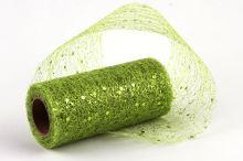 Pavučina třpytivá - zelená - 10cm/4,6 m