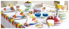 party nádobí a ubrusy