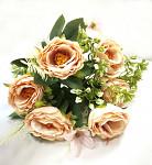 Kytice růžiček - 8ks s poupaty - fialová