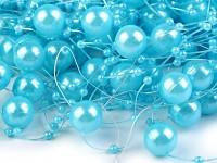 Perličky na silikonu - sv.modré azurové velké