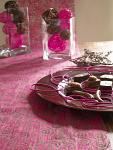 Vlizelín luxus - fuchsia s ornamenty - 10m