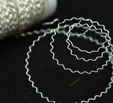 Drát aranžérský zigzag 0.3mm/50gr. - stříbrný