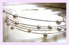 Korunka - 5 drátků s perličkami