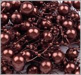 Perličky na silikonu - BORDO velké