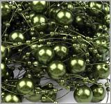 Perličky na silikonu - palmově zelené velké