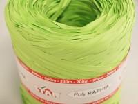 Barevné lýko- raffia zelená - 1m