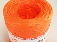 Barevné lýko- raffia oranžová - 1m