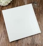 Svatební kniha hostů - koženková bílá s ražbou ornamentů
