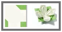Ubrousek 40x40 cm Airlaid Origami - lotosový květ bílý - 1ks