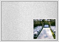 Svatební koberec - běhoun - bílý - 10m