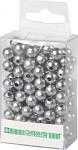Korálky perličky - stříbrné 8mm - 144ks