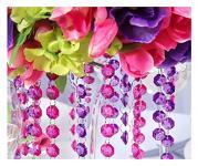 Girlanda diamanty - tm.fialové