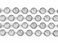 Girlanda diamanty - stříbrno-šedé