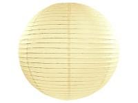 Lampion kulatý 45 cm  - krémový