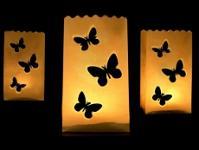 Dekorativní lampiony - svítící motýlci - 10 ks