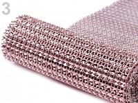 Diamantový pás - 10cm/1m - růžový