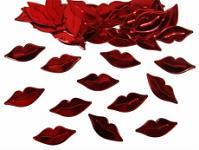 Konfety lesklé - pusinky červené