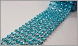 Diamantový pás - 3cm/1m - tyrkysový