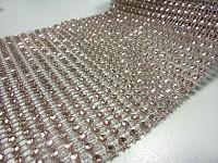 Diamantový pás - 10cm/1m - starorůžový