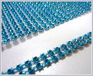 Diamantový pás - 1cm/1m - tyrkysový
