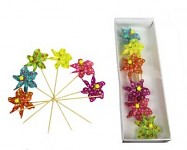 Větrník barevný kytka  - malý - mix barev