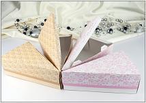 Krabička malá na dortový trojúhelník - krém