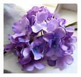 Vazbový květ hortenzie - fialový