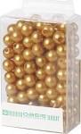 Korálky perličky - zlaté 8mm - 144 ks