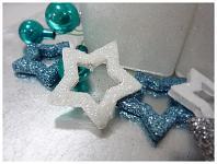 Hvězda dutá - bílá glitter