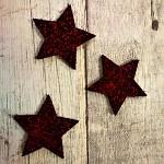 Hvězda textilní - bordo - 4 cm