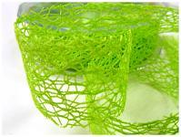 Stuha pavučina 30 mm - sv.zelená - 1m