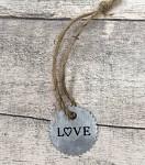 Plechové kolečko - LOVE