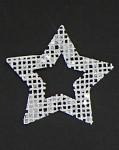 Hvězda juta bílá 10cm - 4ks
