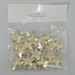 Hvězdičky malé kovové - závěs - 18ks
