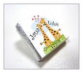 Čokoládka svatební mini - žirafy