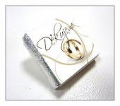 Čokoládka svatební mini - Děkujeme s prstýnky