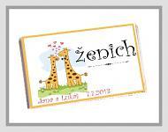 Čokoládka svatební tabulka - žirafy