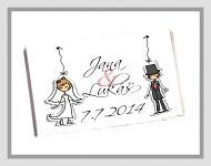 Čokoládka svatební tabulka - ženich a nevěsta
