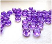 Dekorační kapky rosy - tm.fialové