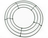 Věnec - proutí hnědý glitr - 35 cm