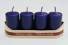 Adventní svíce - tm.modré -malé