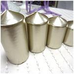 Adventní svíce - postupné - platina metalické