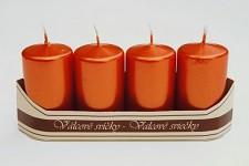 Adventní svíce - červenooranžové metal.