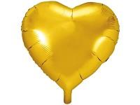 Foliový balonek - srdce zlaté 61 cm
