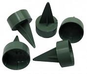 Pinholder na široké svíčky - zelený - 1ks