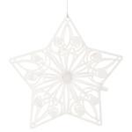 Hvězda závěs 10 cm - dřevěná